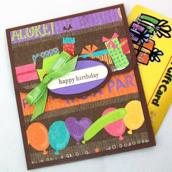 Birthday Gift Card Holder Happy Birthday Money Card Kids