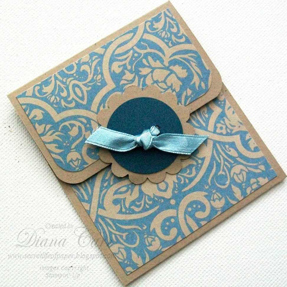 CLEARANCE Sale Elegant Gift Card Holder Handmade Gift Card
