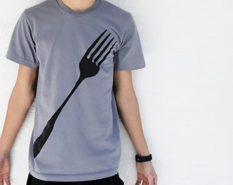 SALE Mens Fork t-shirt, back to school shirt, gift for men funny tshirt gift for foodie, gift for him, husband gift, foodie, funny t shirt