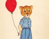 Little Lion Boy. Collage print
