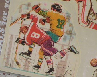 Vintage Meyercord Decals Sports Football - Hockey - Baseball - Basketball 1970s (1673-W )