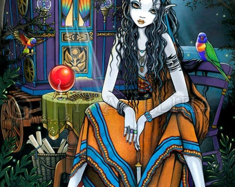 Remember Me Gypsy Fortune Teller Fairy Signed Fine Art Print