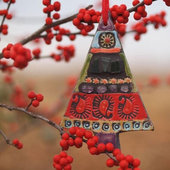 Christmas Tree Ornaments Etsy: Items Similar To READY TO SHIP Christmas Tree Ornament