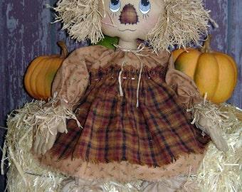 CF249 October Lil' Kornkobb PDF E-Pattern Cloth Scarecrow Doll Pattern