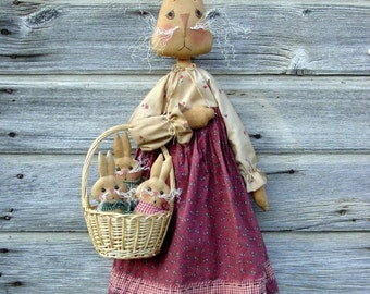CF197 Somebunny to Love - PDF ePattern Cloth Rabbit Doll Pattern