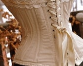 Rustic Wedding Overbust Corset perfect for Steampunk Wedding -Romantic Bridal Lingerie or Wedding dress bodice