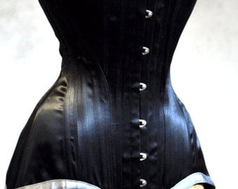 Long Black Corset- Edwardian Womens Clothing Underwear