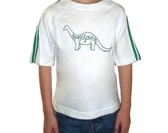 3 DOLLAR SALE: Apatosaurus Jurassic Dinosaur Child Size 2 Shirt (last one!)