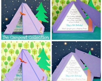 The CAMPOUT Collection Custom Invitations from Mary Had a Little Party