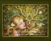 Greenman, Post Card by Renae Taylor