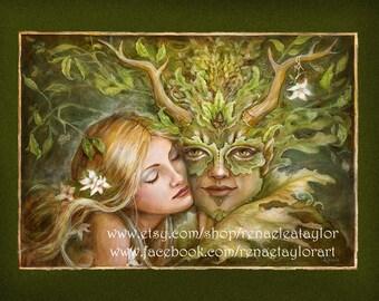 Greenman, Post Card by Renae Taylor