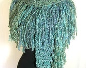The Fringe Scarf  Crochet Pattern PDF - SUPER EASY  - permission to sell what you make