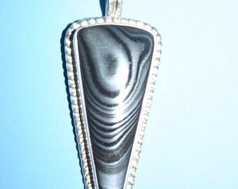 Psilomelane Pendant with Sterling Silver Setting