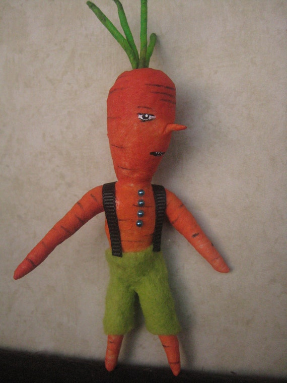 Spun Cotton Carrot boy by Maria Pahls