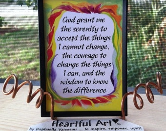 God Grant Me SERENITY PRAYER Inspirational Quote Magnet Motivational Print Encourage Spiritual Meditation Heartful Art by Raphaella Vaisseau