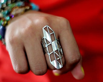ABSTRACT ISOMETRIC RING (free shipping)