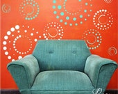 Fun Retro Circles - Removable Vinyl Wall Decals from 5 inches to 22 inches in the two colors of your choice!  Customize your room, Your way!