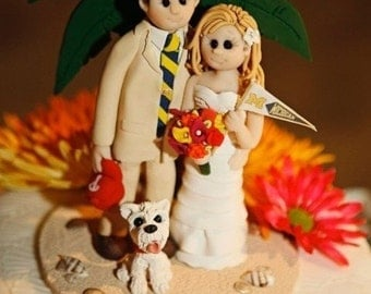 Destination Wedding Cake Topper,Custom wedding cake topper, Bride and groom cake topper, personalized cake topper, custom cake topper