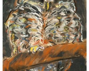 owl art print - still dreaming - 8X10 print