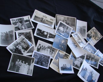 Vintage Lot of 23 Black and White Photographs Rural Americana Life Older Generation