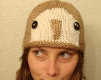 BARN OWL hand knit hat --- bobcathats