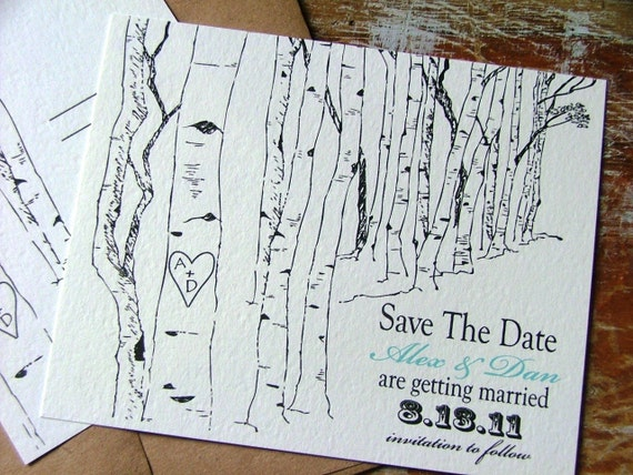 Outdoor Wedding Save the date cards | Aspen tree | Save the dates | Woodland wedding | Garden Wedding | Utah Inspired