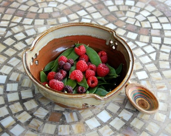 Berry Bowl Colander in Brownstone - Made to Order