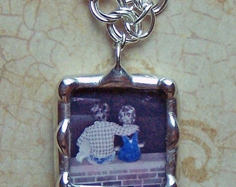 """1 Personalized Photo Charm Soldered Glass Custom Made 3/4"""" size, (bracelet not included)"""