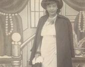 Pretty Black Woman - 1940s Photo - Dressed Up, Hat, Coat, Corsage
