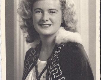 JOBS' DAUGHTERS ROYALTY Thelma Gadden Morton -  Black and White Photo circa 1950s