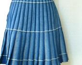 Vintage Pendleton Skirt Size Medium Size Small Blue Wool Pleated Kilt Skirt from Portland's Pendleton Wool Mills