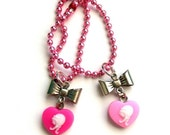 Sweet Heart Cameo Necklace for 1/6 Scale Dolls - Pink and Magenta