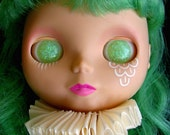 Glow in the Dark Mint Resin Eye Chips for Blythe or Byul