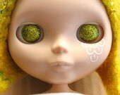 Chartreuse Green Resin Glitter Eye Chips for Blythe or Byul