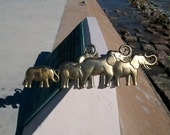 Lucky Elephants 1982 vintage Syroco wall decor retro 1980's artwork,  GOP Elephant  Political Icon Good Fortune classic 80's 1F