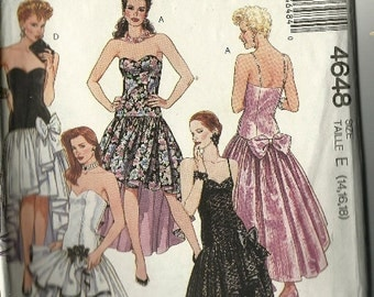 1960 Mccalls Dress Pattern Printed Pattern Full By