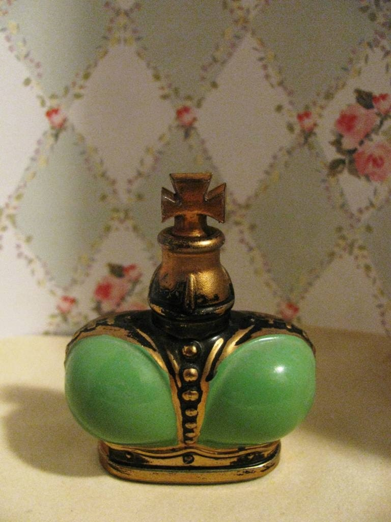 Vintage Perfume Bottle Prince Matchabelli Green Wind Song