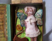 Apparition of Greener Knowledge Fairy House Mixed Media Sculpture