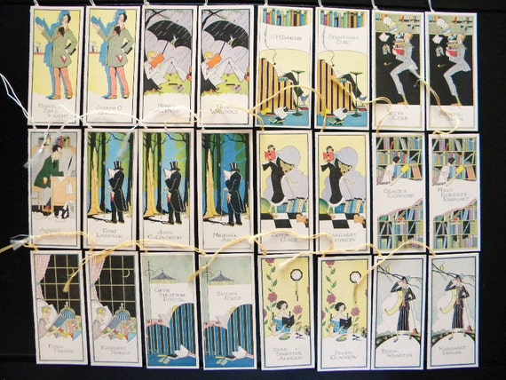 Amazingly Rare Complete Set of 1924 Tally Cards - Modern Authors Series