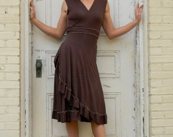 Organic Cotton Wrap Dress, Made to Order