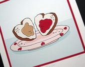 PB and J in Love- Signed Archival Print of Original Illustration