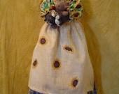 Primitive e-pattern PATTERN Tuxedo Cat Bagholder Sunflowers Doll Original by Raggedyrhondas faap fall sale