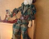 Primitive Santa Folk Art Doll ePattern