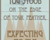 NEIL YOUNG Expecting to Fly Lyric Poster - Typography Art Print