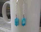 Blue and Silver Zen Dangle Earrings