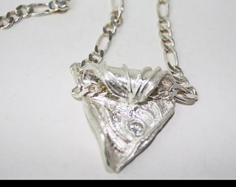 Silver Clay Fold-over Pendant