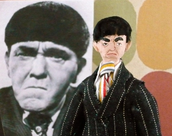 Three Stooges Moe Howard Miniature Art Doll
