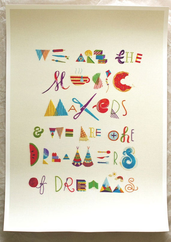 Makers, Dreamers - A2 giclee limited edition print