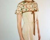 1950s Dress - Scandinavian Embroidered 50s Dress