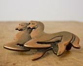 Horse Pin • Horse Brooch • 1960s Horse Brooch • 60s Horse Pin •  Horse Jewelry • Pony Pin • Animal Brooch • Animal Jewelry • Equestrian Pin